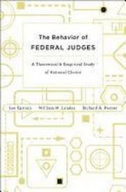 The Behavior of Federal Judges – A Theoretical and Empirical Study of Rational Choice