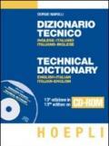 Dizionario tecnico inglese-italiano, italiano-inglese. CD-ROM