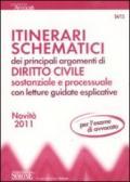 Itinerari schematici dei principali argomenti di diritto civile sostanziale e processuale con letture guidate esplicative