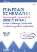 54/14 ITINERARI SCHEMATICI dei principali argomenti di Diritto Penale sostanziale e processuale