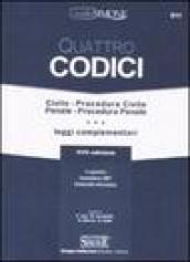 Quattro Codici - Civile - Procedura Civile - Penale - Procedura Penale e leggi complementari. In appendice: Comunitaria 2007 - Criminalità informatica. 17 ed. 2008