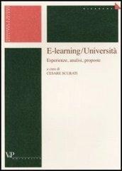 E-learning/Università. Esperienze, analisi, proposte