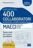 Concorso 400 Collaboratori MAECI (Ministero degli Affari Esteri). Teoria e test per la prova preselettiva. Con software di simulazione