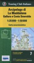 Arcipelago di La Maddalena, Gallura e Costa Smeralda 1:25.000-1:50.000. Con Guida al parco