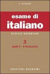 Esame di italiano: 3\2