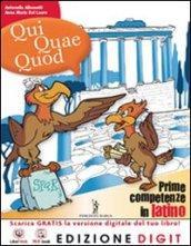 Qui quae quod. Vol. unico. Con vocabolario. Per la Scuola media. Con espansione online