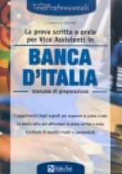 La prova scritta e orale per vice assistenti in Banca d'Italia