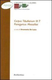 Corpus tibullianum III 7. Panegyricus messallae