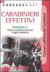 Concorsi per carabinieri effettivi. Manuale