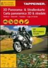 Südtirol. Dolomiti. Trentino. Lago di Garda. Carta mototuristica, carta panoramica 3D & stradale. Ediz. italiana e tedesca