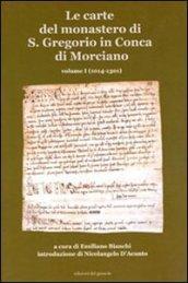 Le carte del monastero di S. Gregorio in Conca di Morciano