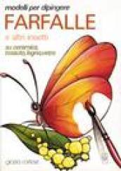 Modelli per dipingere farfalle ed altri insetti su ceramica, tessuto, legno, vetro