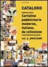 Catalogo unificato delle cartoline pubblicitarie moderne, italiane, da collezione a distribuzione gratuita: 2