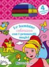Le bambine colorano con i pennarelli magici. Con 4 pennarelli magici