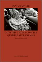 Constitutiones Concilii Quarti Lateranensis. Testo latino a fronte