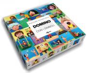 Domino ini verbi con i simboli. Con Gioco