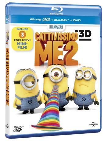 Cattivissimo Me 2 (3D) (Blu-Ray 3D+Blu-Ray+Digital Copy)